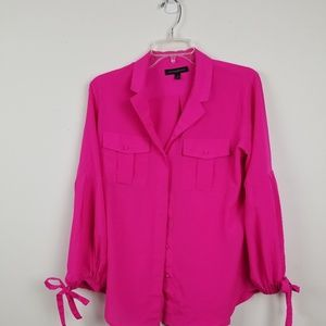 Banana republic pink blouse size small